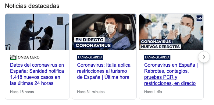 Noticias Rich Snippets